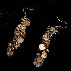 Silver & Gold Circle & Hoop Dangle Earrings